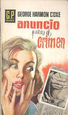 ANUNCIO PARA EL CRIMEN GEORGE HARMON COXE AÑO 1960 GP POLICIACA 120 TC12048 A6C2