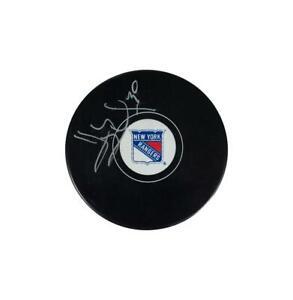Henrik Lundqvist Signed New York Rangers NHL Puck Autograph