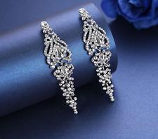 On Trend 14K White Gold P Crystal Chandelier Earrings Women Bridal Jewellery