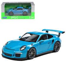 Welly 1:24 2016 Porsche 911 GT3 RS Diecast Metal Model Roadster Car Blue