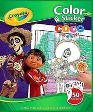 Disney Pixar COCO Crayola Color & Sticker Pages NEW