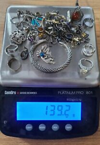 925 Sterling Silver Mixed Jewelry Lot of 139.2g