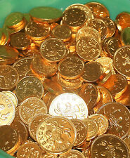 Gold chocolate coins 1kg approx 250 mixed coins Weddings/ parties