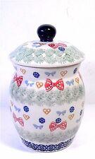 Boleslawiec Stoneware Pottery Jelly Or Honey Jar Hand Made Poland