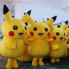 2018 Halloween Brand Pokemon Go Pikachu Mascot Costume Cosplay Game Adults Dress