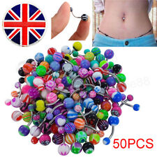 Lot of 50pcs Belly Button Rings Belly Bars Ring Assorted Navel Banana Dangle UK