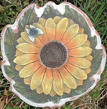 Sunflower Butterfly, stepping stone, plaque,  concrete mold, cement, plaster
