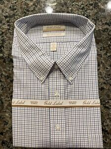 GOLD LABEL ROUNDTREE & YORKE NON-IRON MEN'S 19 - 34/35 Dress SHIRT