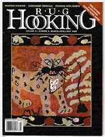 Rug Hooking Magazine March/April/May 2000 Free Pattern and Hooking Instructions