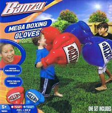 BANZAI RED MEGA INFLATABLE BOXING GLOVES - 1 X PAIR OF GLOVES