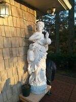 HAND CARVED MARBLE statue 79 inches Detailed quality excellent condition