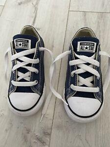 Boys Navy Blue Converse All Star Uk 9