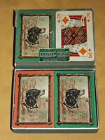 VINTAGE 1947 2 DECKS FORCOLAR DOG SPRINGER SPANIEL  PLAYING CARDS