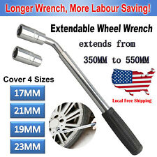 High-Torque Telescopic Extending Car Wheel Nut Wrench Socket 17/19MM & 21/23MM
