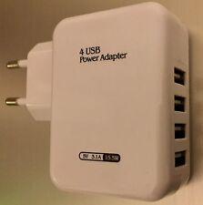 EF Ladegerät 4er USB Netzteil Haus Netzstecker Stecker Samsung iPhone 220V U