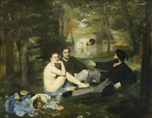 Edouard Manet Luncheon On The Grass Giclee Art Paper Print Poster Reproduction