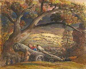 Samuel Palmer The Timber Wain Poster Reproduction Paintings Giclee Canvas Print