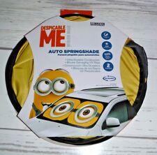 New Minion Spring Sunshade Windshield Auto Window Shade 2 Pc Universal Fit