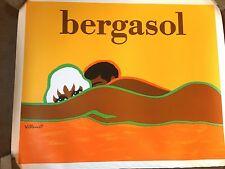 "Original French Poster ""Bergasol"" Sun Tan Lotion"
