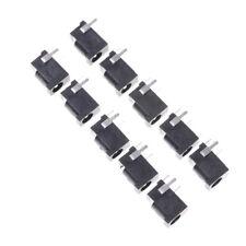 10 Pcs Black 3 Pin 3.5mm x 1.3mm DC Power Jack Socket PCB Mount *