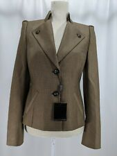 ESCADA Women's 2 Button Blazer Jacket Wool/Silk Blend Size 36 NWT