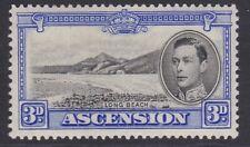 More details for ascension gvi 1938-1953 3d black & ultramarine mint sg42