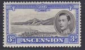 Ascension GVI 1938-1953 3d black & ultramarine MINT sg42