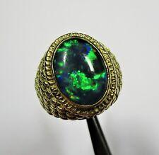 8 - Prachtvoller 14,5 Gramm Ring aus Gelbgold 750 mit Opal-Triplette - G12