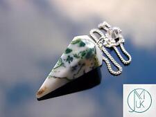 Tree Agate Quartz Gemstone Point Pendulum Dowsing Crystal Dowser Chakra Healing