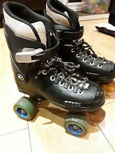 Raptor Sfr Black Quad Roller Skates Uk Size 3 Vgc