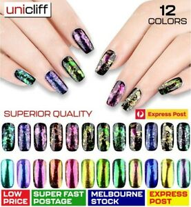 Duo Chrome Chameleon Nail Flakes Powder Polish Mirror Transparent Color Nail Art