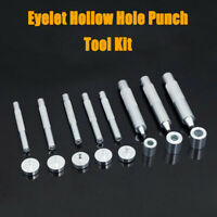1pcs Eyelet Hollow Hole Punch Tool Kit Hand Setting for DIY Leather Crafts