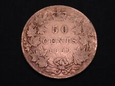 - Canada 1899 Fifty 50 Cents Victoria -Small 9 Type - Scarce Only 50,000 Minted