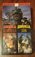 GODZILLA VS MECHAGODZILLA GODZILLA VS GIGAN DOUBLE FEATURE VHS