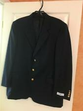 Stuart Hughes Black Worsted Wool Single Breasted Suit Jacket Blazer NWT 46L