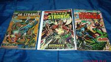 Doctor Strange Marvel Comic Book Lot Rare #1; #2; #3 Fair to Good Range