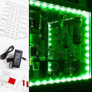 LEDUPDATES 60ft Green STOREFRONT WINDOW 5630 LED LIGHT + UL Listed 12V Power