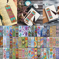 5D Diamond Painting Bookmark Leather Tassel Book Marks Embroidery DIY Craft Kit