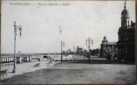 Montevideo, Uruguay 1910 Postcard: Pocitos Rambla y Banos