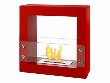 Ignis Bio Ethanol Fireplace Tectum Mini Red Free Standing With 6000 BTU NEW