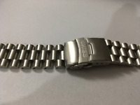 SEIKO Solid Stainless Steel Gents Watch Strap,Curved Lug,20mm,NEW,( BD-1)