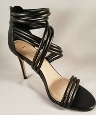 BRAND NEW N By NICOLE MILLER  Black Strappy High Heel Pumps Shoes Size 8M