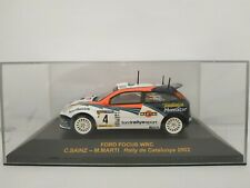 1/43 FORD FOCUS WRC SAINZ CATALUNYA 2002 RALLYE IXO RALLY CAR ESCALA DIECAST