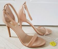 BARELY THERE HEELS size 8 nude PRIMARK ankle strap STILETTO occasion SEE DESCRIP