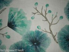 Harlequin Curtain Fabric KABALA 3.45m Lagoon - Amazilia - Linen Mix Floral 345cm