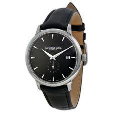 Raymond Weil Toccata Black Dial Black Leather Mens Watch RW-5484-STC-20001