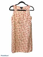 My Michelle Women's Sleeveless Floral Print Dress Peach Sz 7/8  Empire Waist