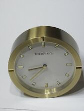 Tiffany & Co. Round Fan Desk Clock( with pouch and box included)