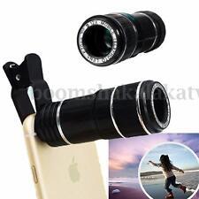 Universal 12X Zoom Lens Optical Clip Telephoto Telescope Cell Phone Camera Lens