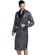 Mens Silk Satin Long  Robe  Robes  Bathrobe  Nightgown  Pajamas__For XMAS Gift